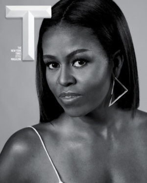 Michelle Obama Covers T Magazine.  Images by Collier Schorr.