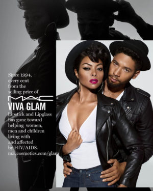Taraji P. Henson and Jussie Smollett Team Up With MAC Cosmetics for a Good Cause.