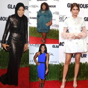 On the Red Carpet.  The 2016 Glamour Women of the Year Awards.