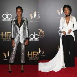 Janelle Monaé and Naomie Harris Honored at Hollywood Film Awards.