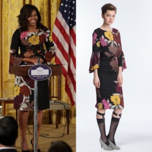 Michelle Obama Wears the 'Flounced T Dress' by Tracy Reese.