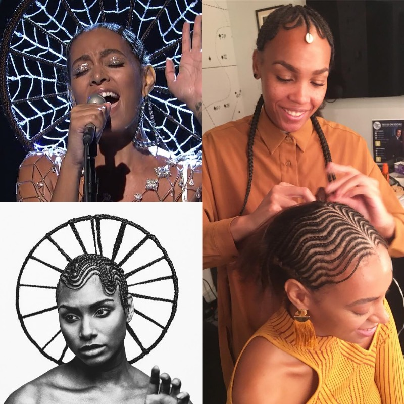 Solange Hair Shani Crowe Braids