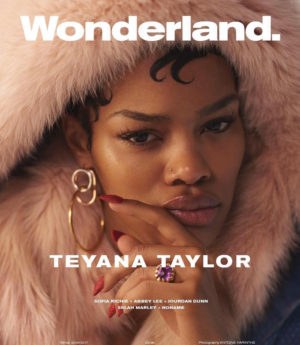 Selah Marley, Teyana Taylor, and Jourdan Dunn Cover Wonderland Magazine.