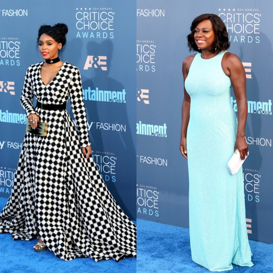 2016 Critics' Choice Awards Fashin Viola Davis Janelle Monaé