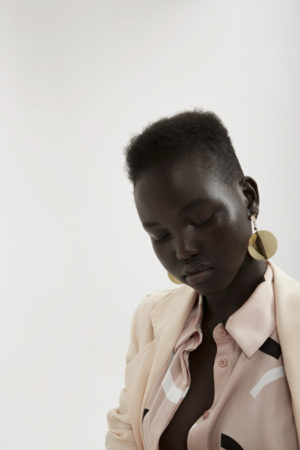 Editorials. Adut Akech  is Pretty in Pink for Fashion Bunker.