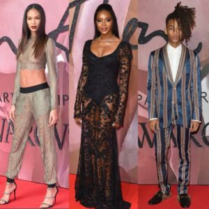 On The Red Carpet.  At the British Fashion Awards.