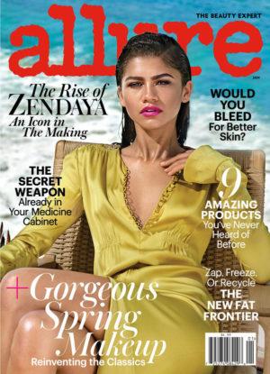 Editorials. Zendaya Covers Allure January 2017.  Images by Jason Kibbler.