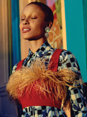 Editorials. Adwoa Aboah. Glamour Magazine March 2017.  Images by Robbie Fimmano.