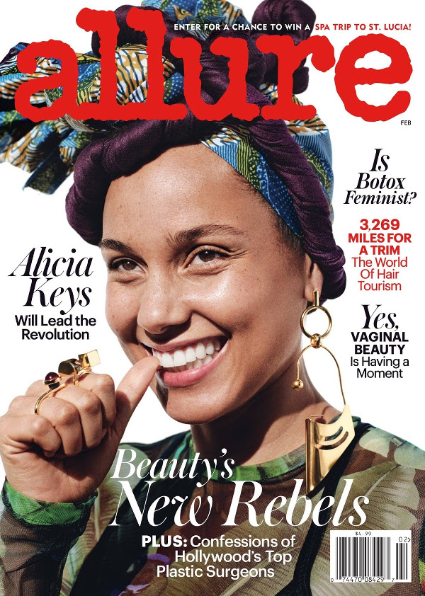 Alicia Keys Covers Allure February 2017. Images by Paola ...
