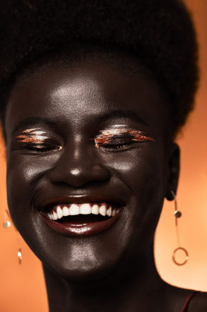 Beauty. Khoudia Diop Rocks Metallic Makeup for Refinery29. Images by Ruo Bing Li.