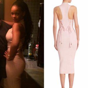 Rihanna Wears Cushnie et Ochs to Assunta Madre.