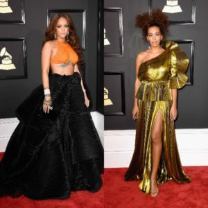 On The Red Carpet. The 2017 Grammys. + Beyoncé's Performance.