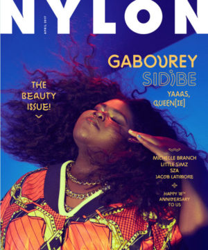 Gabourey Sidibe Covers NYLON Magazine April 2017.  Images by Shxpir.