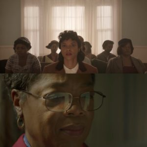 Trailers.  Renée Elise Goldsberry and Oprah Winfrey in Star HBO's 'The Immortal Life of Henrietta Lacks.'