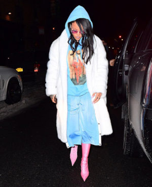 Rihanna Wears Balenciaga, Alexander Wang, and More.