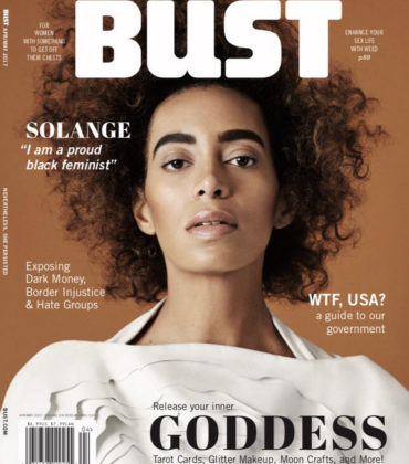 Solange Covers BUST Magazine April/May 2017 Issue.  Images by Nadya Wasylko.