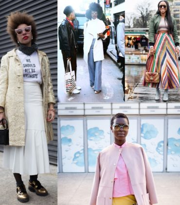 Street Style Post.  Over 50 Looks From New York, London, Milan, and Paris.