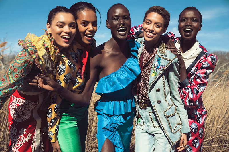 Ajak Deng, Grace Mahary, Jourdana Phillips, Lameka Fox, Nykhor Paul