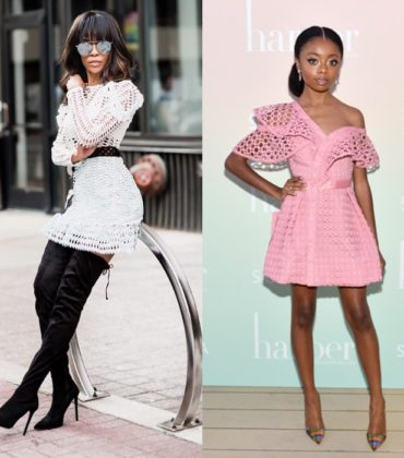 Skai Jackson and Michelle Williams Wear Self Portrait.