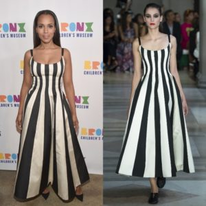 Kerry Washington Wears Carolina Herrera Spring 2017.