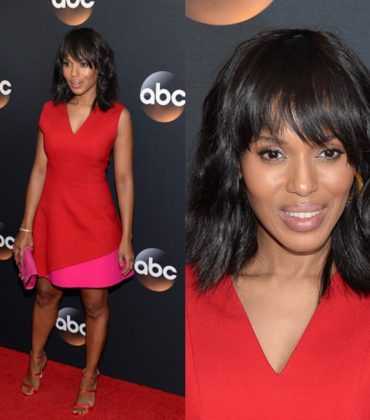 Kerry Washington Wears Fausto Puglisi to the 2017 ABC Upfront.