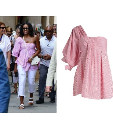 Michelle Obama Steps Out in a One-Shoulder Top by TEIJA.