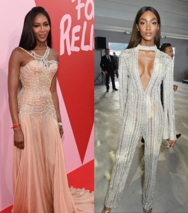 Naomi Campbell and Jourdan Dunn at The Fashion For Relief Runway Event in Cannes.