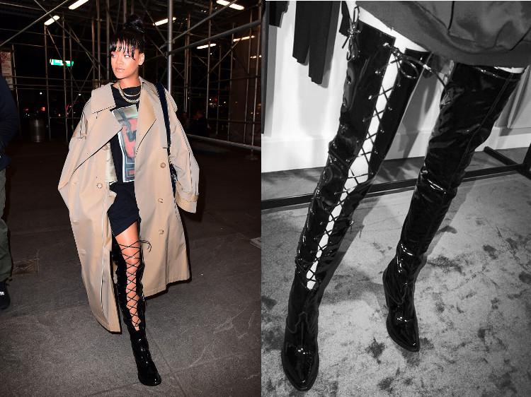 Rihanna Boots Trench