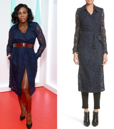 Serena Williams Wears a Burberry Lace Trench.