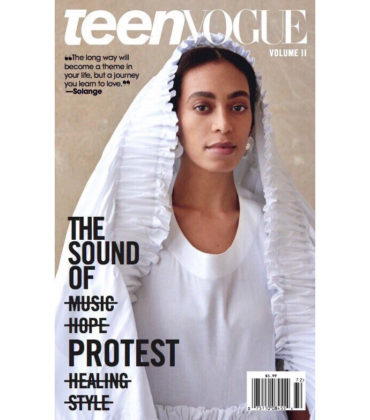 Solange Covers Teen Vogue.  Pens a Letter to Her Teenage Self.