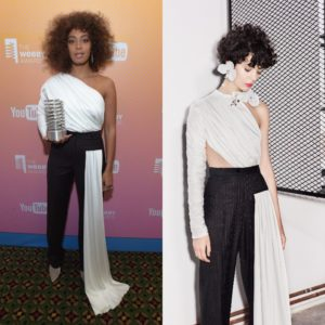 Solange Accepts The Webby 'Artist of the Year' Award Wearing Seen.Users.