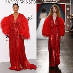 Tracee Ellis Ross Attends the amfAR Gala at Cannes 2017 in Jenny Packham.