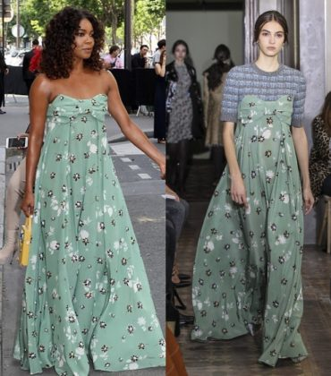 Gabrielle Union Wears Valentino Pre-Fall 2017 in Paris.