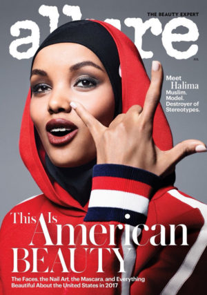 Halima Aden Covers Allure Magazine July 2017.  Images by Sølve Sundsbø.