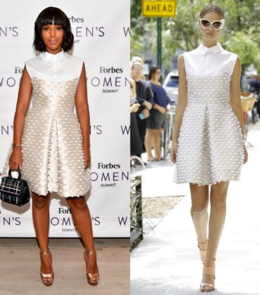 Kerry Washington Attends the Forbes Women's Summit in Lela Rose Spring/Summer 2017