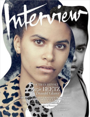 'Atlanta's' Zazie Beetz Covers Interview Magazine.