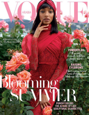 Jourdan Dunn Covers Vogue Arabia July 2017 Issue.  Images by Cüneyt Akeroğlu.