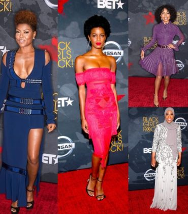 On the Red Carpet.  Black Girls Rock!