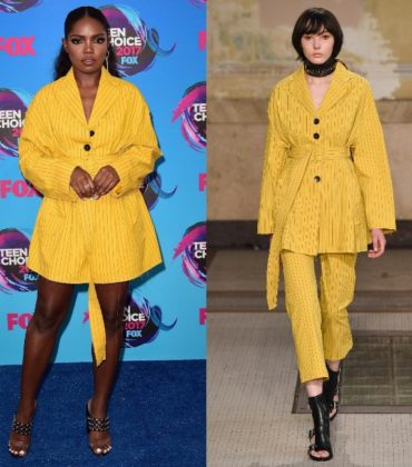 Ryan Destiny Attends the Teen Choice Awards in Damir Doma.