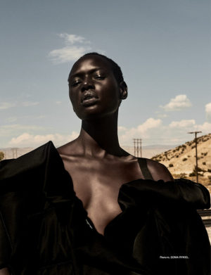 Editorials. Ajak Deng.  Numéro Russia September 2017. Images by Egor Tsodov.