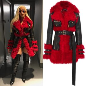 Cardi B Sports a $8,395 Coat by Alexander McQueen.