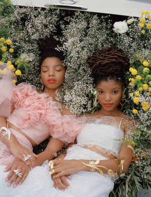 Chloe x Halle Wear Rodarte for Garage Magazine.  Images by Daria Kobayashi Ritch.