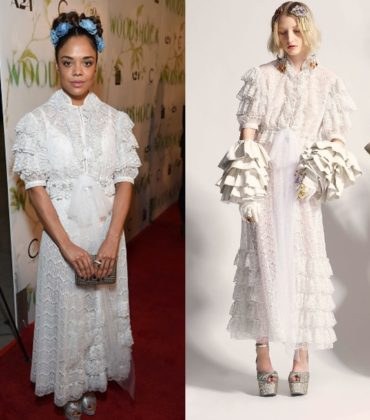 Tessa Thompson Wears Rodarte Fall 2017.