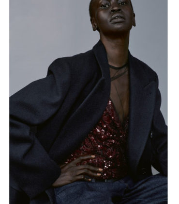 Editorials.  Alek Wek and Karly Loyce Wear Dries Van Noten for Another Magazine.