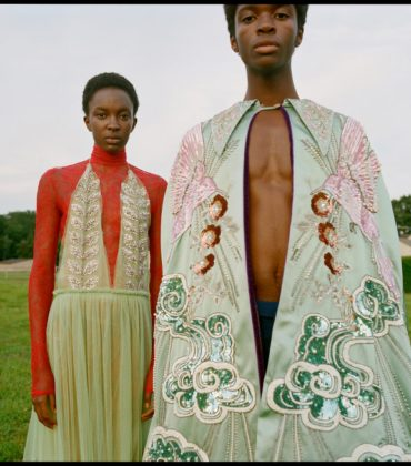 Editorials.  Nicole Atieno and Alton Mason Wear Gucci For Wonderland Magazine.