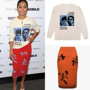 Yara Shahidi Wears Prada and Hstry.