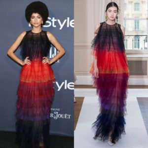 Zendaya Goes 70s Glam in Schiaparelli Couture.