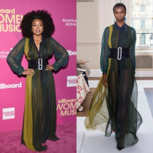 Taraji P. Henson Wears Schiaparelli Couture to Billboard Women in Music 2017.