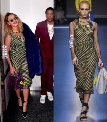 Beyoncé Wears Versace Fall 2017.