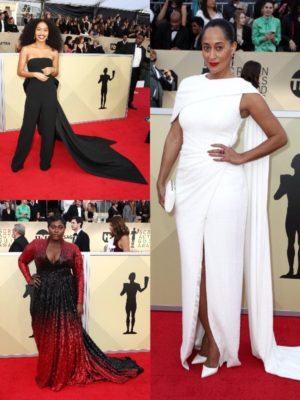 On the Red Carpet.  The 2018 SAG Awards.